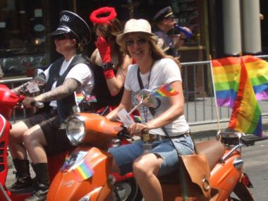 Colorfully-decorated motorcyclists led last year's Gay Pride Parade.
