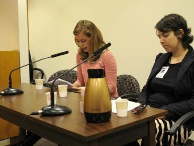 Grace Tobin, 16, (l.) blogged about her experience testifying before City Council on the street harassment that women face in Manhattan for her class blog,