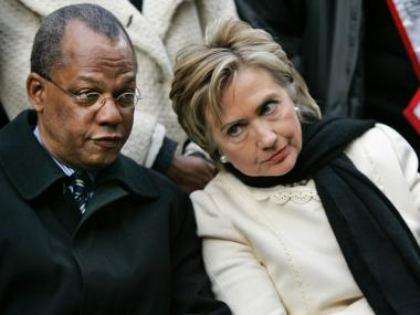 Rev. Calvin Butts, seen with Hillary Clinton at a rally in recent years.
