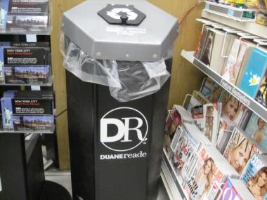 Duane Reade was one of the few Midtown chains that had a plastic bag recycling bin on display when DNAinfo visited Wednesday.