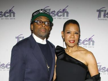 New Harlem School of the Arts Board Member, Mary Schmidt Campbell, attends a 2009 Tisch School of the Arts gala with director Spike Lee.