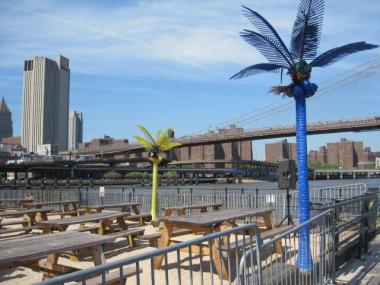 Water Taxi Beach At The South Street Seaport, Shown Last Summer, Is Turning  Into