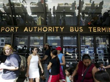 Two children were abandoned at the Port Authority Bus Terminal Friday morning, a report said.