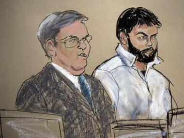 Zarein Ahmedzay (pictured right) speaks during his arraignment at Brooklyn Federal court, Friday, Jan. 8, 2010 in New York.
