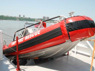 The Three Forty Three's rescue boat.
