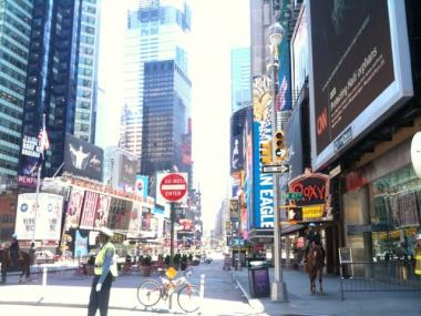 Parts of Times Square were shut down by police again on Friday following reports of a