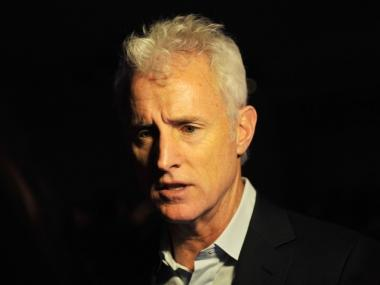 John Slattery is mad about a Sanitation Department facility in his TriBeCa neighborhood.