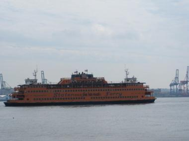 A woman fell or jumped from the Staten Island Ferry on Monday.