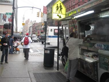 Hassan Aboubakr, a cook at the Halal Truck says that the truck stays parked at the busy intersection of East 86th Street and Lexington Avenue between 10 a.m. to Midnight.