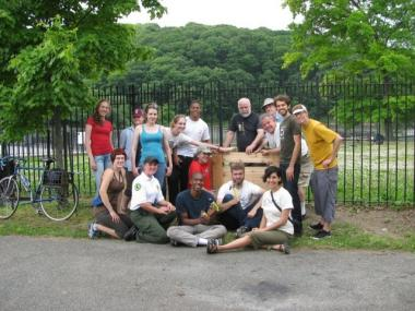 The Inwood Hill Park Community Compost Initiative built a new compost bin system on May 29.