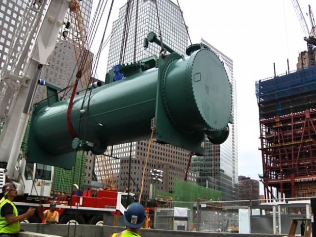 World Trade Center Air Cleaner : Giant air conditioner arrives at world trade center site