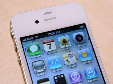 The new iPhone 4 is displayed at the 2010 Apple World Wide Developers conference on June 7 in San Francisco.