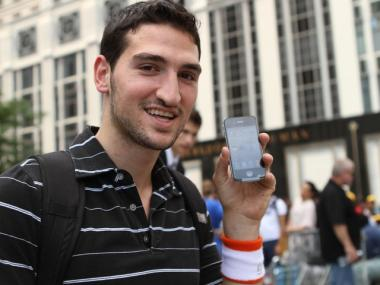 Brooklyn resident Joey Mizrahi, 22, is excited to finally have his hands on Apple's newest gadget.