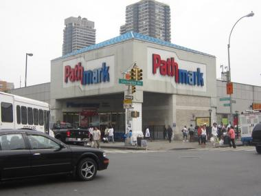 Pathmark grocery store lends to the congestion at Lexington Avenue and 125th Streets