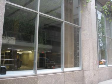 The libraries windows have been standing empty for two years.