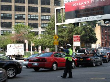 The entrance to the Holland Tunnel on Hudson Street will be closed until 2015 because of construction.