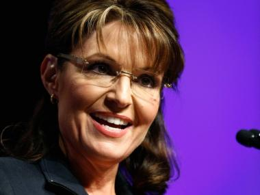 Sarah Palin, shown at a Las Vegas real estate convention in May, said Sunday that building a mosque and community center near Ground Zero