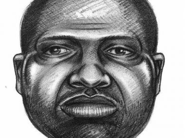 The NYPD released this sketch of a person seen leaving Riverside Park shortly after 19-year-old jogger Marisa Cortright was mugged on Monday. Police believe this man may have witnessed the attack on Cortright.