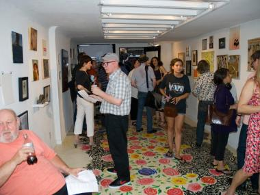 The temporary gallery space next to the lot recently played host to a benefit to raise funds for the project.