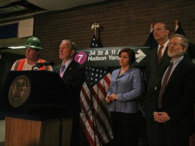 """It's always a wondrous day when we celebrate the expansion of the tunnels,"" said Mayor Bloomberg at a press conference in Port Authority."