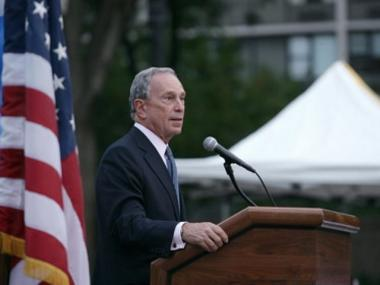 Mayor Michael Bloomberg will spend Tuesday endorsing candidates in surrounding states.