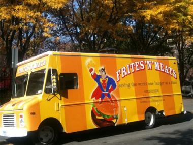 New York food truck vendor Frites 'N' Meats got in a parking spat with Rickshaw Dumpling Truck on Tuesday in Midtown.