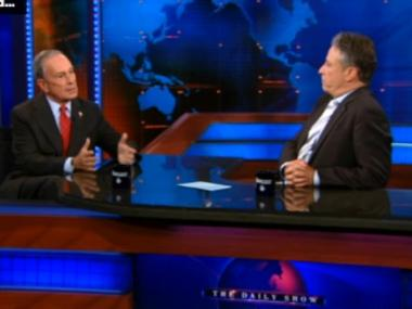 Michael Bloomberg spoke about the controversy over the mosque near Ground Zero on The Daily Show with Jon Stewart, Aug. 26, 2010.