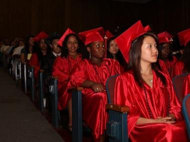 Millennium seniors at graduation earlier this year.