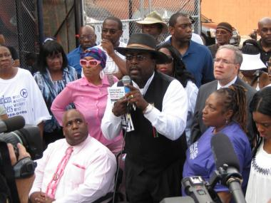 Harlem anti-violence activists, including the Rev. Vernon Williams, says the community needs to take responsibility for an uptick in gun violence.