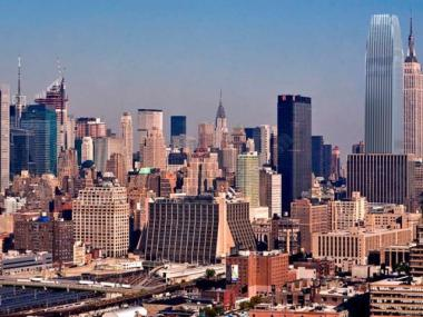 Opponents of a new skyscraper proposed for a site blocks away from the Empire State Building released this rendering to show how the new building would