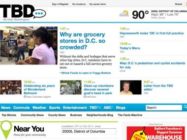 The TBD home page.