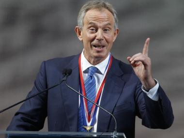 Former British Prime Minister Tony Blair was awarded the 2010 Liberty Medal at the National Constitution Center in Philadelphia, Monday, Sept. 13, 2010. A day later, a scheduling snafu with his lecture at the 92nd St. Y temporarily displaced Manhattan voters.
