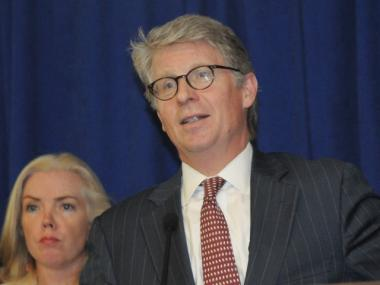 Manhattan District Attorney Cy Vance Jr. at a press conference Wednesday.