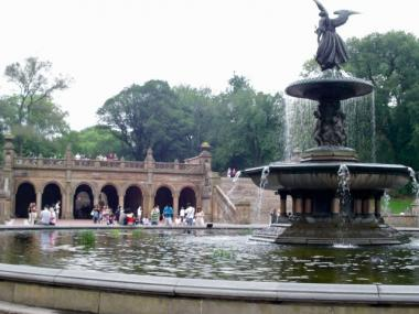 The arcade at Central Park's Bethesda Fountain has been a favorite for buskers. Authorities have recently declared the area a