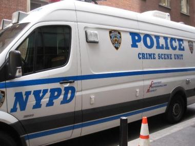 NYPD crews closed off a portion of West 34th Street to investigate a suspicious package Wednesday.