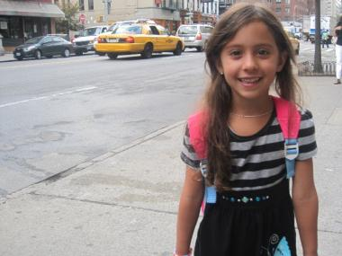 Alana Cohen, 5, said she was most excited to meet her teachers at P.S. 267.