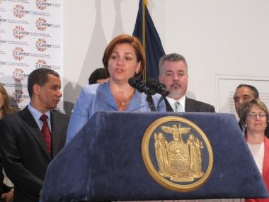City Council Speaker Christine Quinn praised a coalition of advocates who over a 10 year period