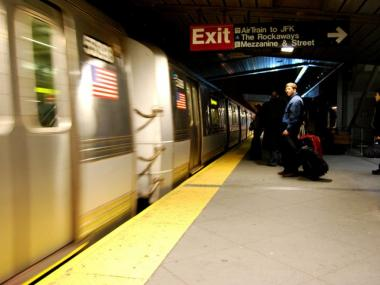 The MTA said a derailment caused major subway delays Tuesday morning.