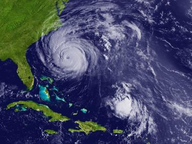 Hurricane Earl moves through the Atlantic Ocean toward the U.S. coast  on September 2, 2010.