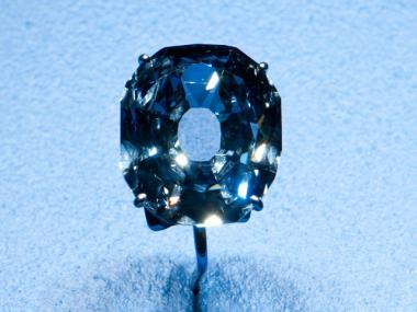 The 31.06-carat flawless deep blue Wittelsbach-Graff diamond is on display at the American Museum of Natural History until early next year.