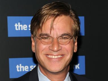 Screenwwriter Aaron Sorkin attends Columbia Pictures' and The Cinema Society's screening of