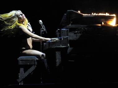 Lady Gaga, seen here performing on the Monster Ball tour, reportedly stole her ex back from the actress he was dating.