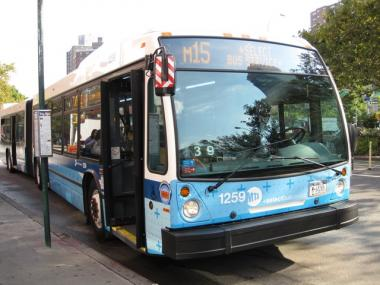 Surveillance cameras began monitoring the bus lanes on First and Second Avenues Monday, dolling out $115 tickets to drivers caught disobeying traffic laws.
