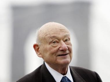 Former Mayor Ed Koch showed up at the Al Smith gala on Tuesday night with a black eye he got after undergoing surgery.
