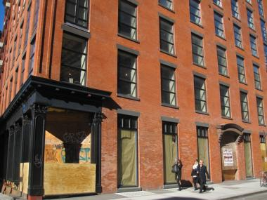 Developer Ross Morgan hopes to turn the first and basement levels of the renovated carriage house at 177 Mott Street into a combination market and restaurant.
