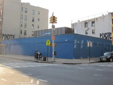 The newly painted wall at the corner of Avenue C and 6th Street in Alphabet City.