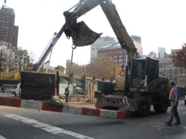 Residents are concerned about noisy work on Hudson Street.