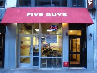 Five Guys will open a new location at West 110th Street and Broadway in February 2011.