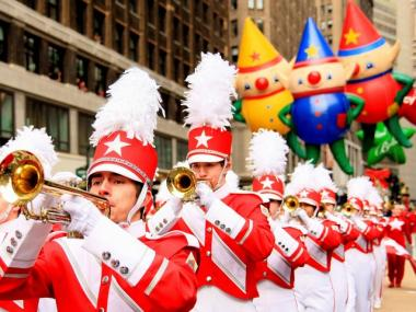 The Macy's Great American Marching Band in Macy's Thanksgiving Day Parade.