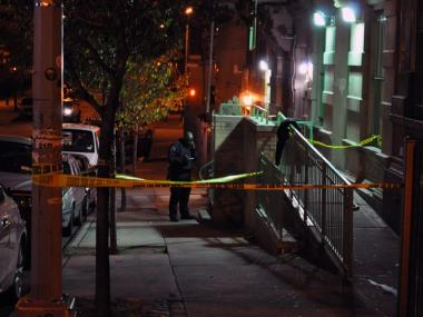 The man fell to his death in front of 60 West 109 Street early Thursday morning.